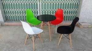 Bộ bàn ghế nhựa chân gỗ NN02