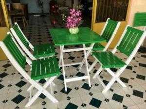 Bàn ghế gỗ xếp giá rẻ NN03