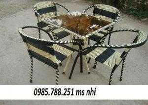 Bàn ghế cafe giá rẻ nhất NN01