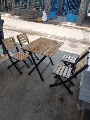 Bàn ghế cafe sân vườn giá rẻ Htt23