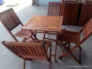 Bàn ghế gỗ dầu cần bán gấp