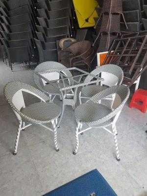 Bàn ghế cafe sân vườn giá xưởng