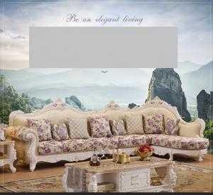 Bộ sofa góc phòng khách cổ điển | bàn ghế tân cổ điển châu âu giá rẻ