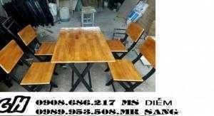 Chuyên sản xuất bàn ghế gỗ giá rẻ h21