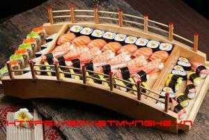 Cầu Gỗ Trang Trí Sushi, Cầu Gỗ Trang Trí Sashimi Nhật Bản