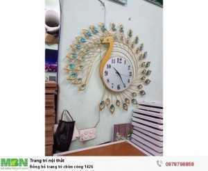 Đồng hồ trang trí chim công 1426