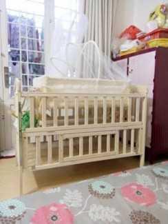 Thanh lý cũi gỗ 3 tầng cho bé