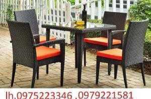 Bộ bàn ghế nhà hàng cafe sân vườn giá siêu rẻ