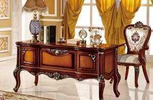 mẫu bàn làm việc cổ điển cho sếp - Chuyên cung cấp nội thất văn phòng cổ điển