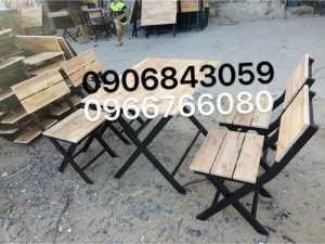 Bàn ghế xếp gỗ quán nhậu giá rẻ