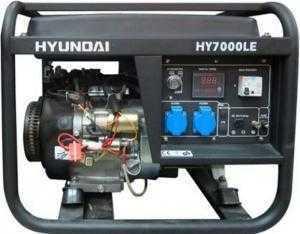 Máy phát điện chạy xăng Hyundai với động cơ 4 thì ,công suất 5kW model HY7000LE.