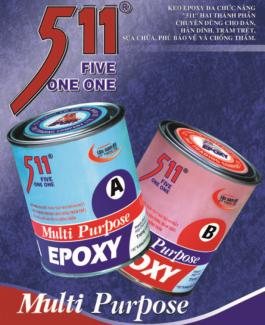Bộ Keo A và B Multi Purpose Tan Nam Do dán đá, nhựa, gỗ, kim loại Epoxy 511 - Epoxy511