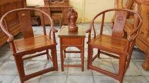 Bàn trà 3 món gỗ gõ đỏ - BBG689