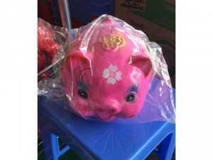 Lợn đất đẹp đựng tiền cho các bé đây