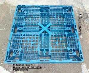 Pallet nhựa cũ 1100x1100x120 mm