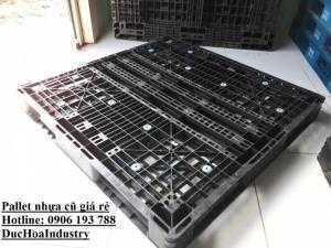 Pallet nhựa cũ 1100x1100x120 2 mặt, giá rẻ...