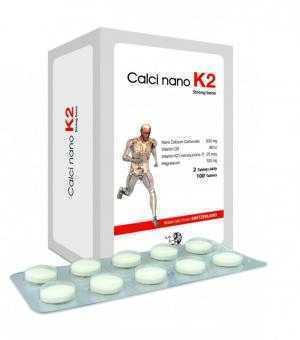 Calci Nano K2 Hộp 100 viên - Tăng chiều cao, tăng cường vận động