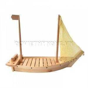 Khay thuyền gỗ sushi, khay thuyền gỗ sashimi, khay thuyền gỗ trang trí món ăn