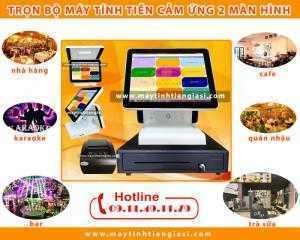 Máy tính tiền cảm ứng 2 màn hình giá rẻ trọn bộ giá rẻ tại Đắk Glong-Daknong