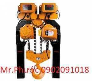 Palang xích điện dầm đôi hàn quốc 10 tấn | palang xích điện hitachi | palang xích điện samsung