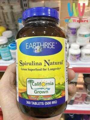 Viên Uống Tảo Mặt Trời Tự Nhiên Earthrise Spirulina Natural