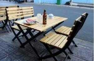 Bàn ghế xếp quán nhậu ngoài trời