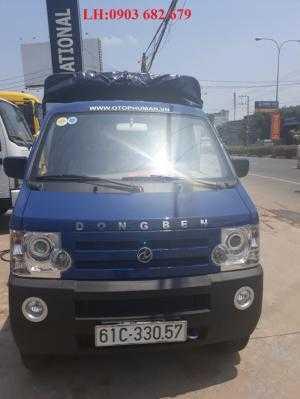 Xe tải Dongben 810kg thùng mui bạt hỗ trợ trả góp 80%