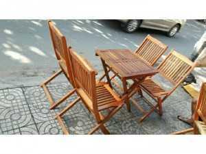 Ghế gỗ xếp cafe