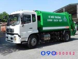 Bán trả góp xe cuốn ép rác Dongfeng 13 khối...