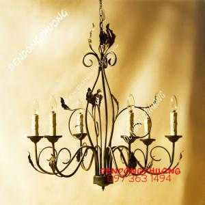 Đèn chùm cổ điển Châu Âu đẹp nhẹ nhàng, sang đúng điệu