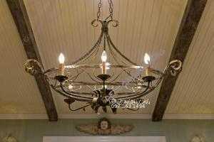Đèn chùm 6 bóng nến cổ điển dòng Châu Âu cực đẹp