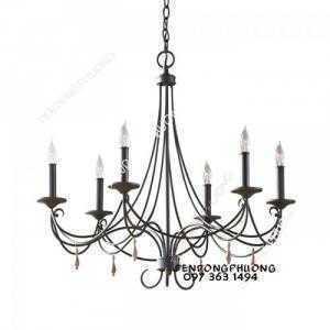 Đèn chùm nến cổ điển sang trọng nét thanh mảnh đặt trưng của dòng đèn châu Âu