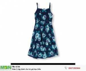 Đầm 2 dây dành cho bé gái dạo biển size 5T> 12T
