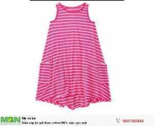 Đầm váy bé gái thun cotton100% mặc cực mát , size 2T>10T from rộng