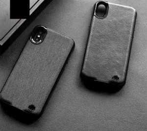 Ốp Kiêm Pin Sạc Dự Phòng iPhone X WUW-B10 Giả Da Siêu Mỏng 3800mAh