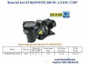 Máy bơm hồ bơi EUROSWIM 200 M: 1.5 kW/ 2 HP