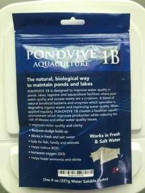 PONDVIVE 1B - Nguyên liệu xử lý cải tạo môi trường