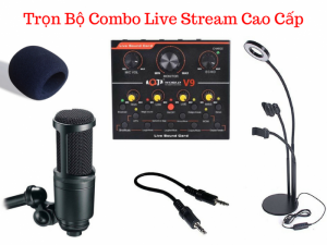 Bộ Live Stream Micro Thu Âm AK-69 + Sound Card V9 - MSN388356
