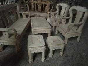 Bộ bàn ghế minh quốc triện gỗ sồi nga