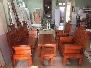 Bộ bàn ghế âu á hộp - gỗ sồi nga - Loại 2m2 và 2m4