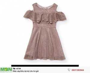 Đầm váy kiểu dạ hội cho bé gái(Size 3,4 Tuổi)