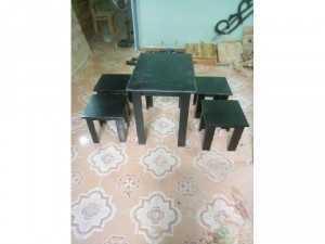 Bàn ghế gỗ cà phê cốc