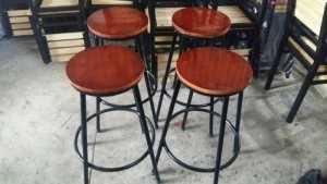 Ghế gỗ quán bar giá xưởng sản xuất Ghế mây Thái Bình