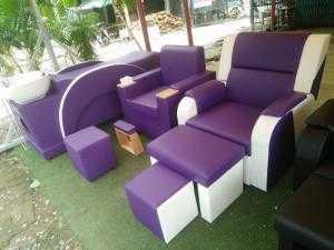Trọn bộ ghế phòng nail giá cực rẻ tại HCM (tím yêu thương)- Xưởng sản xuất sofa giá rẻ