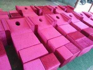 Ghế foot vải tuyết nhung giá mềm mịn - xưởng sản xuất sofa giá rẻ