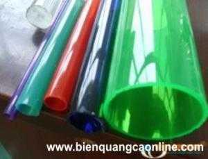 Ống mica dùng trong các công trình nội thất,quảng cáo,quà tặng