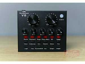 Trọn bộ sound card v8 + micro livestream
