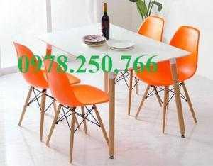 Ghế nhựa chân gỗ tròn - vuông tphcm, bình dương, đồng nai