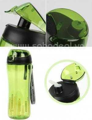 Bình nước nhựa cầm tay có in logo