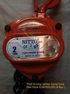 Palang xích Nitto 2 tấn